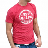 Jeff Allen Unisex Heather Red Tee