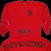 Jon Langston Long Sleeve Red Tee- She's So Georgia