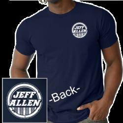 Jeff Allen Unisex Navy Tee