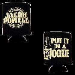 Jacob Powell Black Can Koozie