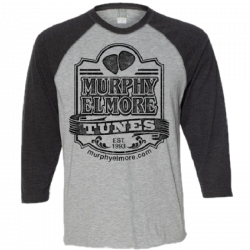 Murphy Elmore Heather and Vintage Black Raglan Tee