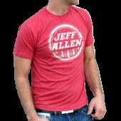 Jeff Allen Unisex Heather Red Tee