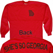Jon Langston Long Sleeve Red Tee- She's So Georgia