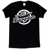 Jon Langston Unisex Black Logo Tee