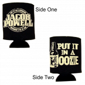 Jacob Powell Black Can Koozie