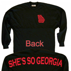 Jon Langston Long Sleeve Black Georgia Tee